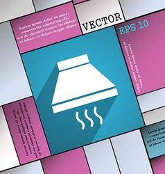 Kitchen hood icon symbol Flat modern web design vector