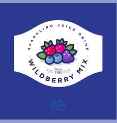 Label for wild berry jam berries vector