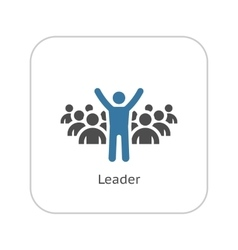 Leader Icon Business Concept Flat Design vector image