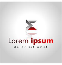 letter e line logo design creative minimal vector image