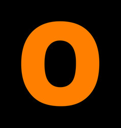 letter o sign design template element orange icon vector image