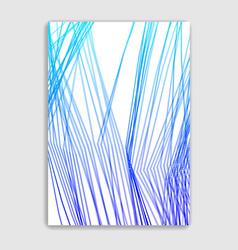 Linear minimal trendy brochure design cover vector
