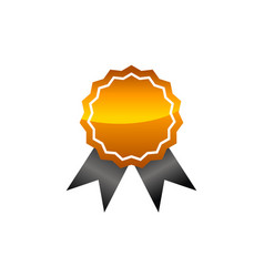 Logo quality blank template vector