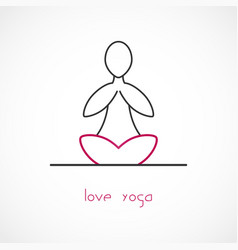 love yoga vector image