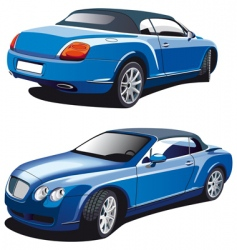 luxury blue car vector image