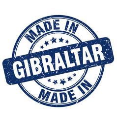 Made in gibraltar blue grunge round stamp vector