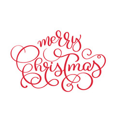 merry christmas red vintage text vector image