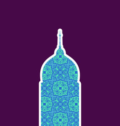 mosque isolated arab pattern madrasah for eid vector image