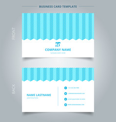 namecard template white color serrated lines vector image