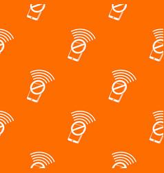No wifi smartphone pattern orange vector