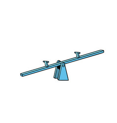 of a seesaw swing board balancer vector image