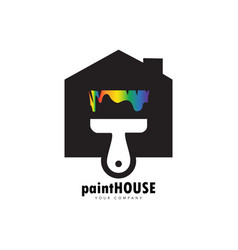paint house logo vector image
