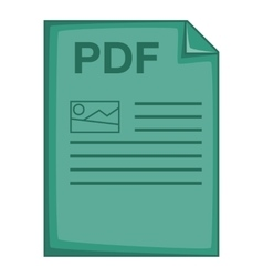 PDF file icon cartoon style vector