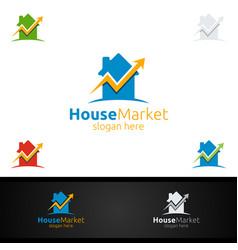 Real estate marketing financial advisors logo vector