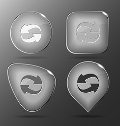 Recycle symbol Glass buttons vector image