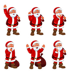 Santa claus in different expressions vector