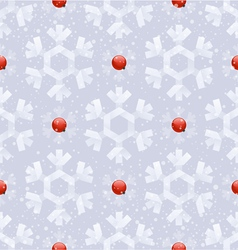 Seamless background - paper snowflakes vector image