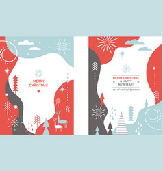 set christmas vertical banners vector image