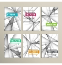 Set of brochures Abstract line background vector