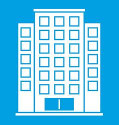 Skyscraper icon white vector