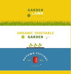 stock gardening hobbanner set vector image