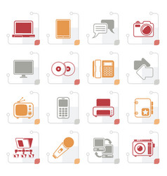 stylized communication and connection technology i vector image