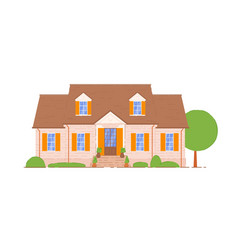 summer cottage icon isolated on white background vector image