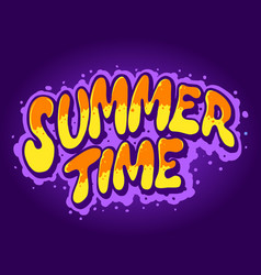 summer time typeface hand drawn vector image