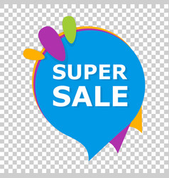 super sale banner badge icon on isolated vector image
