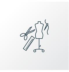 Tailoring icon line symbol premium quality vector