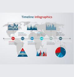 Timeline flat design vector