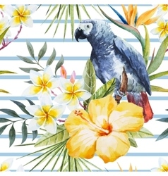 Tropical watercolor pattern vector