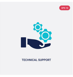 Two color technical support icon from big data vector