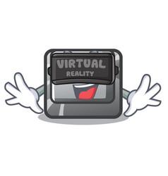 Virtual reality button t in keyboard cartoon vector