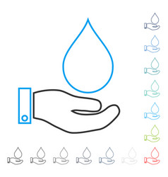 Water service line icon vector