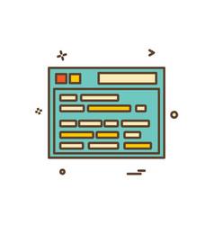 web site icon design vector image