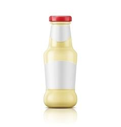 White sauce in glass bottle vector image