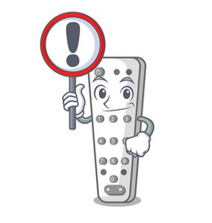 with sign character remote control for media vector image