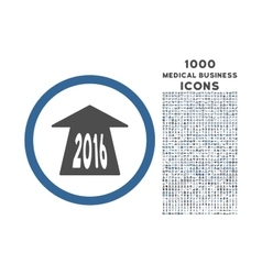 2016 Future Road Rounded Icon with 1000 Bonus vector image vector image