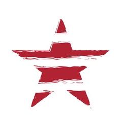 American flag star element symbol vector image vector image