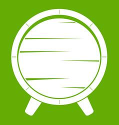 barrel on legs icon green vector image vector image