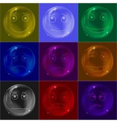 bubbles smileys colorful vector image vector image