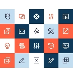 Developer and programing icons Flat style vector image vector image