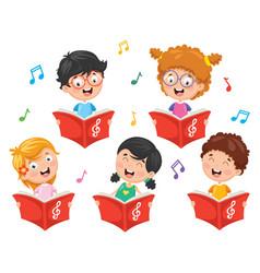 of kids choir vector image vector image