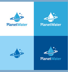 planet water vector image