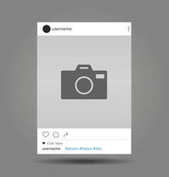 Social network post frame with user name vector