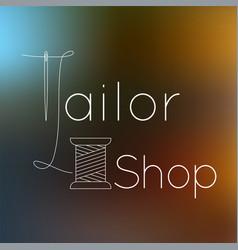 tailoring logo vector image
