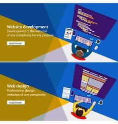 Web developer vector image vector image
