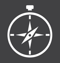 compass solid icon navigation and travel vector image vector image