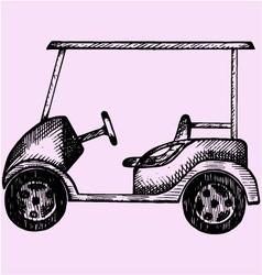 Golf cart vector image vector image